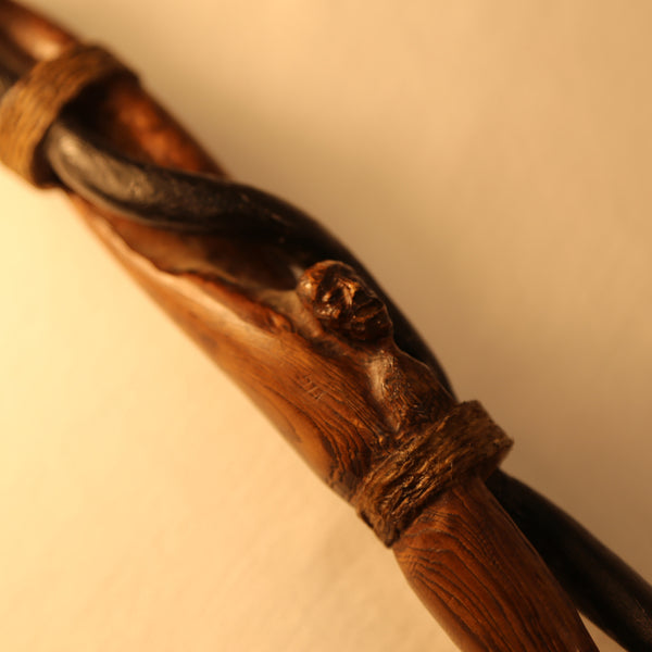 First Nations Wooden Carved Cane face