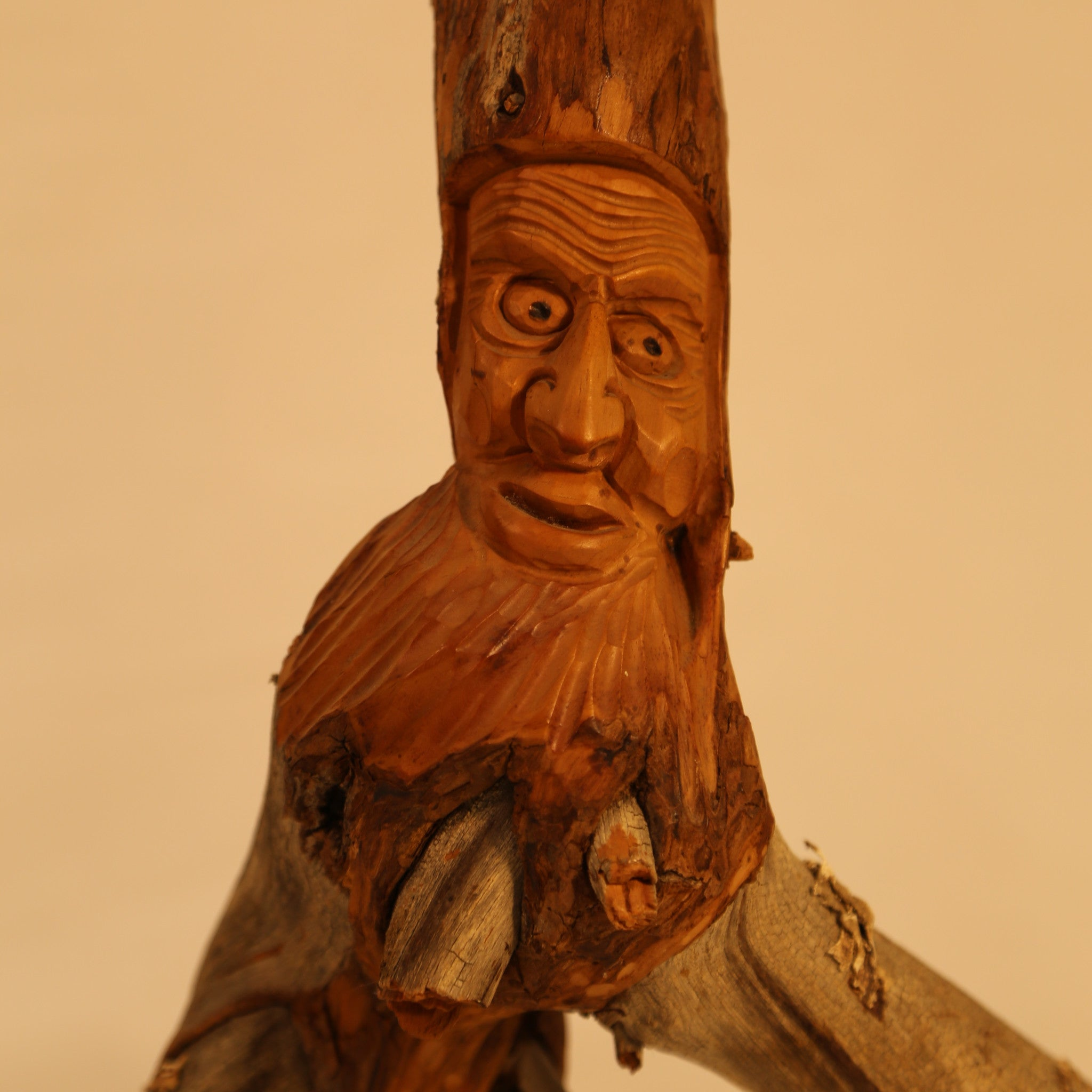 Swiss Stump Man wood carving