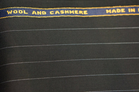 Suit fabirc C0002 Super 130s cashmere & wool navy stripe