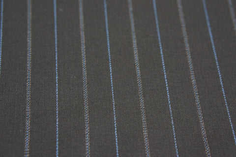 Suit fabric C0012 navy large multistripe