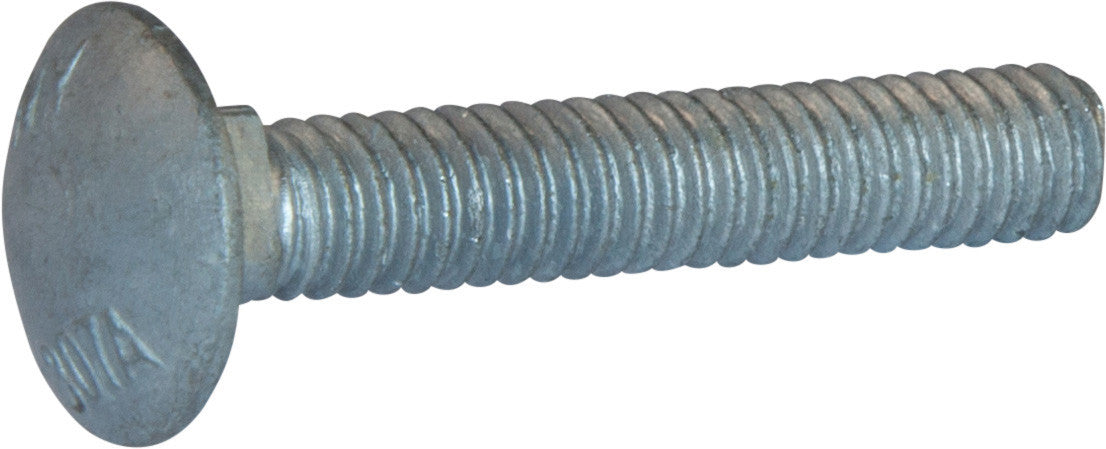 Inch Fully Threaded Size: #10-24 #10-24 x 2 1//4 Carriage Bolts A307 Grade A ZINC CR+3 Finish: Zinc Head: Round Drive: External Square Quantity: 125 Material: Steel Length: 2-1//4