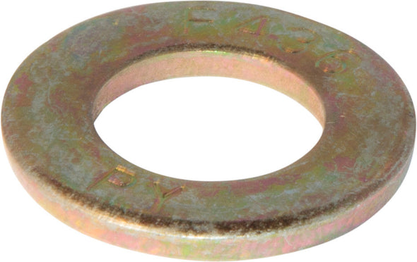 1 F436 Flat Washer Yellow Zinc Plated - FMW Fasteners