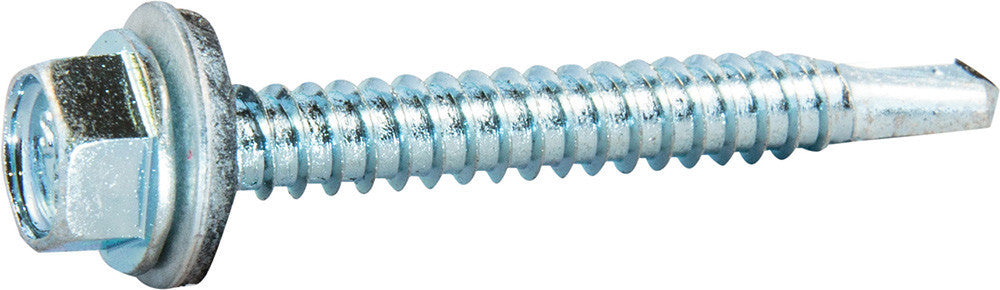 12x1-1//4 Unslotted Self Drilling Hex Head Sheet Metal Screws Neo Washer 500