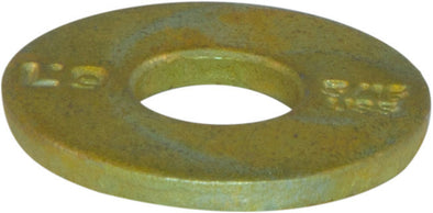 1/4 L9 USS Tension Flatwasher Yellow Zinc Plated Domestic USA (100) - FMW Fasteners
