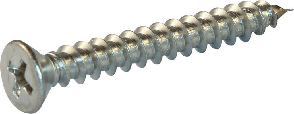 8 x 1 1/4 Phillips Flat Sheet Metal Screw 18-8 (A2) Stainless Steel - FMW Fasteners