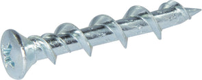 1/4 x 1 1/4 Phillips Oval Wall-Dog™ Light Duty Anchors Zinc Plated - Carton (1000) - FMW Fasteners