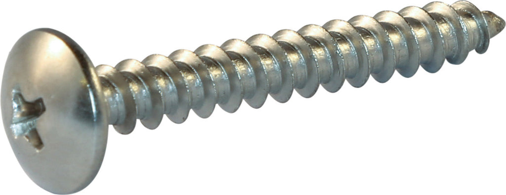 10 x 1 1/2 Phillips Truss Head Sheet Metal Screw 18-8 (A2) Stainless Steel - FMW Fasteners