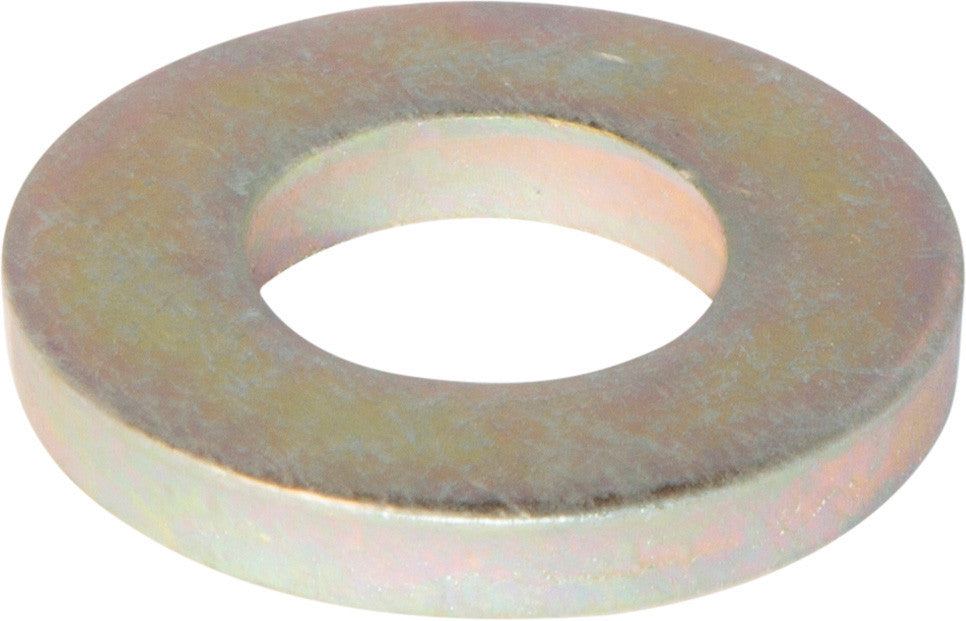 1 4 Sae Flat Washer Extra Heavy Thick Yellow Zinc Plated