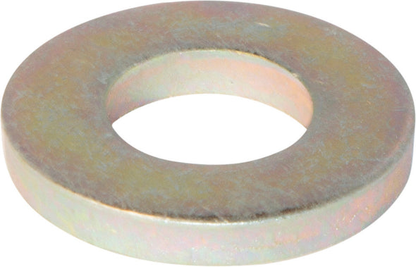 9/16 SAE Flat Washer Extra Heavy/Thick Yellow Zinc Plated - FMW Fasteners