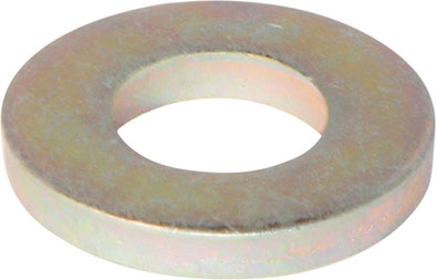 1/2 SAE Flat Washer Extra Heavy/Thick Yellow Zinc Plated - FMW Fasteners