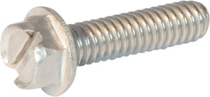6-32 x 1/2 Slotted Hex Washer Head Machine Screw 18-8 Stainless Steel - FMW Fasteners