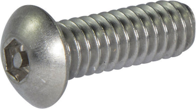 1/4-20 x 1/2 Tamper Resistant Hex Button Head Socket Machine Screw 18-8 Stainless Steel (5/32) - FMW Fasteners