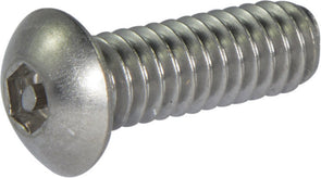M6-1.00 x 12  Tamper Resistant Hex Button Head Socket Machine Screw 18-8 Stainless Steel -Metric (5/32) - FMW Fasteners