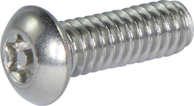 M6-1.00 x 12 Tamper Resistant Torx Button Head Machine Screw 18-8 Stainless Steel - Metric (T-27) - FMW Fasteners