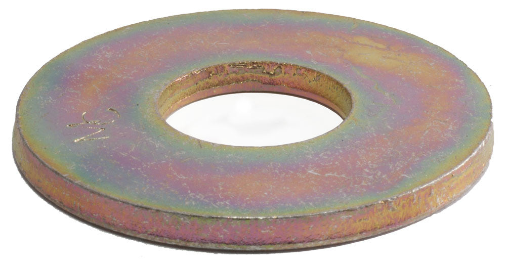 1/2 Grade 8 USS Flat Washer Yellow Zinc Plated - FMW Fasteners