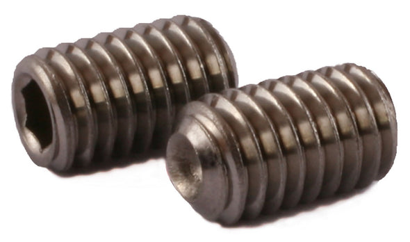 1/4-28 x 3/4 Socket Set Screw Cup Point 18-8 (A2) Stainless Steel - FMW Fasteners