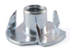 6-32 x 1/4 Tee Nut 3 Prong Zinc Plated - FMW Fasteners