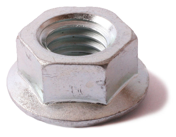 3/8-24 Serrated Flange Nut Zinc Plated - FMW Fasteners