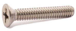 1/4-20 x 1/2 Phillips Flat Machine Screw 18-8 SS - FMW Fasteners