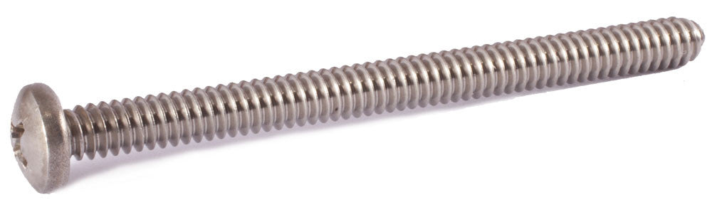 1/4-20 x 5 1/2 Phillips Pan Machine Screw 18-8 SS - FMW Fasteners