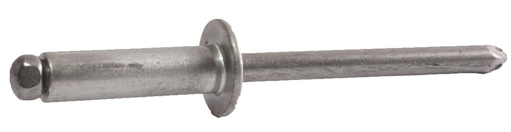 3/16 x 1/16 - 1/8 AB62 Button Alum Rivet / Steel Man (5000) - FMW Fasteners