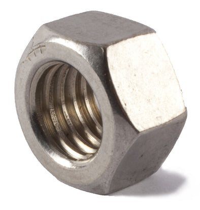 M3-0.50 Finished Hex Nut DIN 934 A2 (18-8) Stainless Steel - Metric - FMW Fasteners