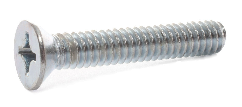 8-32 x 1 Phillips Flat Machine Screw Zinc - FMW Fasteners