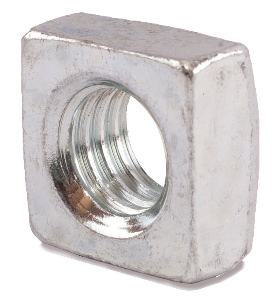 1/2-13 Grade 2 Square Nuts Zinc Plated - FMW Fasteners