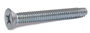 10-24 x 1/2 Phillips Flat Machine Screw Type F Zinc Plated - FMW Fasteners