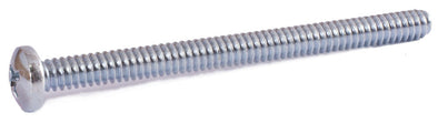 10-24 x 1/4 Phillips Pan Machine Screw Zinc Plated - FMW Fasteners