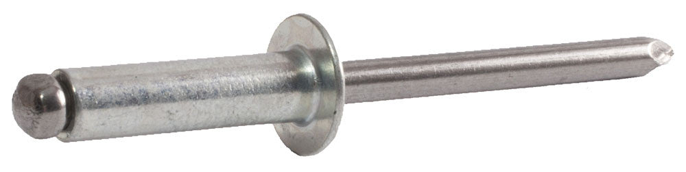3/16 x 1/16 - 1/8 SB62 Button Steel Rivet / Steel Man (5000) - FMW Fasteners
