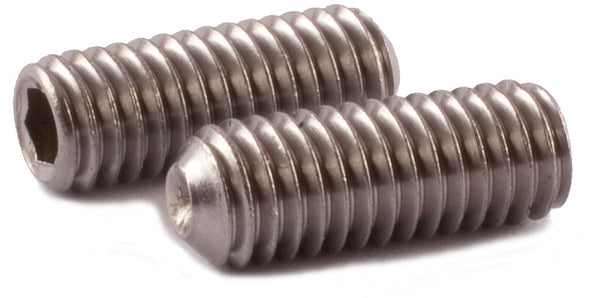 M10-1.50 x 16 Socket Set Screw Cup Point DIN 916 A2 (18-8) Stainless Steel - FMW Fasteners