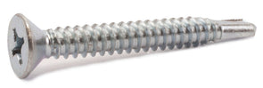 6-20 x 1 Phillips Flat Self Drill Screw Zinc Plated - FMW Fasteners