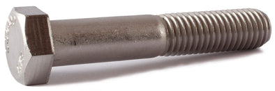 1/2-13 x 1/2 Hex Cap Screw SS 18-8 (A2) - FMW Fasteners
