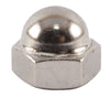 1/2-13 Cap Nut Nickel - FMW Fasteners