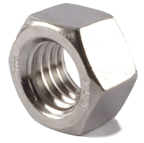 7/8-9 Finished Hex Nut SS 316 (A4) - FMW Fasteners
