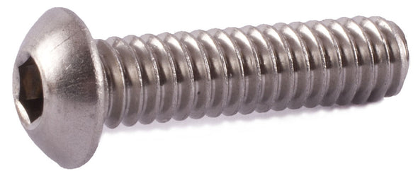 8-32 x 1 1/2 Button Socket Cap Screw 18-8 (A2) Stainless Steel - FMW Fasteners