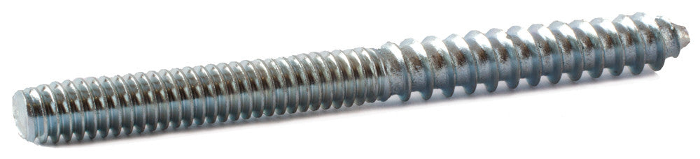 Zinc Plated Steel Hanger Bolts 1//4-20 Machine Thread with Lag Screw Threading 1//4-20 x 1 Qty 100