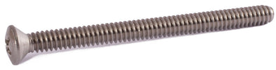 4-40 x 1 1/2 Phillips Oval Machine Screw 18-8 (A2) Stainless Steel - FMW Fasteners
