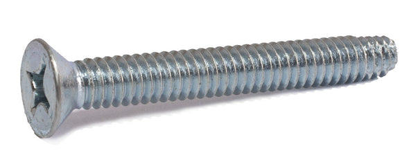 3/8-16 x 4 Phillips Flat Machine Screw Type F Zinc Plated - FMW Fasteners