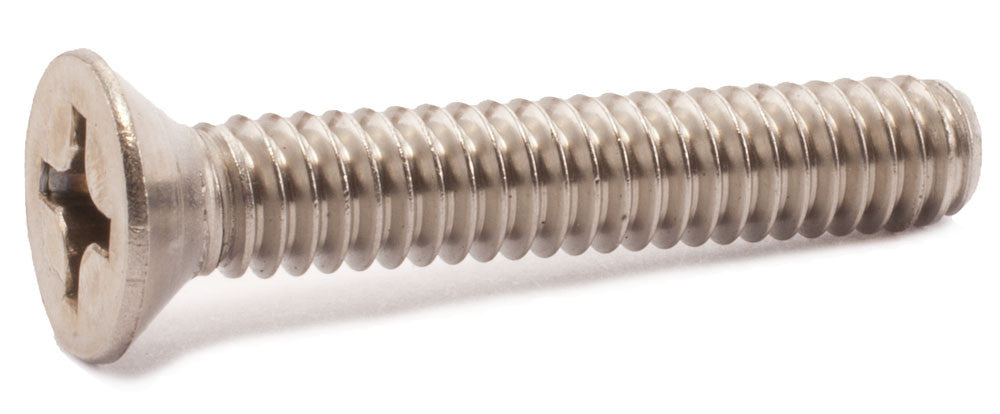 10-24 x 3/4 Phillips Flat Machine Screw 18-8 SS - FMW Fasteners