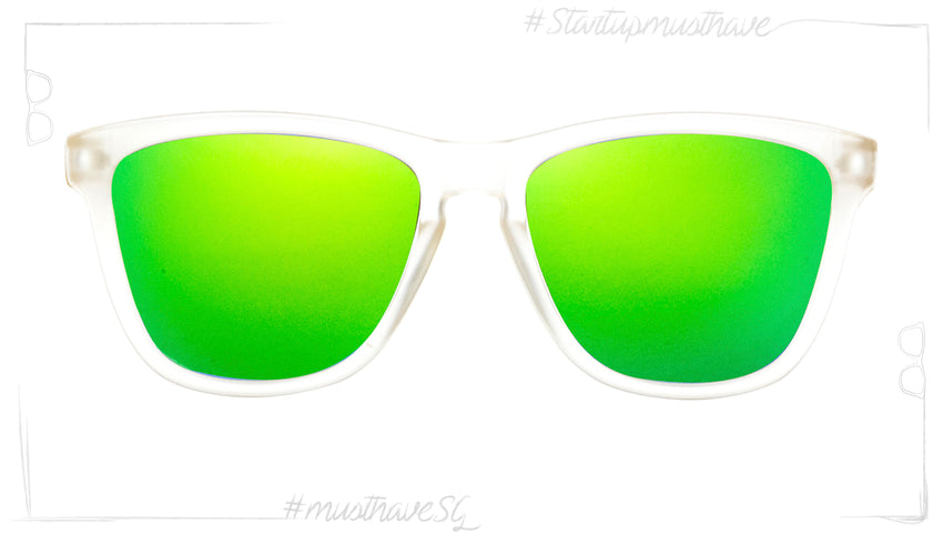 Start Up WHITE FROST WITH BLACK MATE & GREEN-POLARIZED
