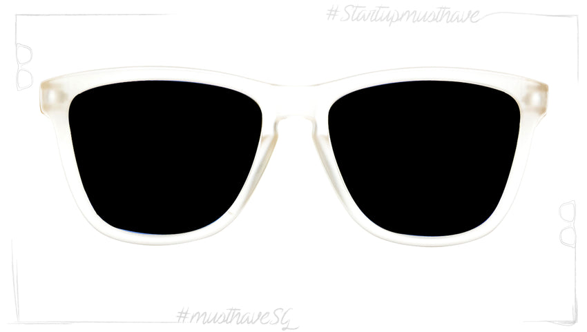 Start Up WHITE FROST WITH BLACK MATE & BLACK-POLARIZED