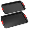 Elite Bakeware 2 Piece Extra Large NonStick Baking Pans Set - Cookie Sheets - Baking Sheets - Extra Large Non Stick Bakeware