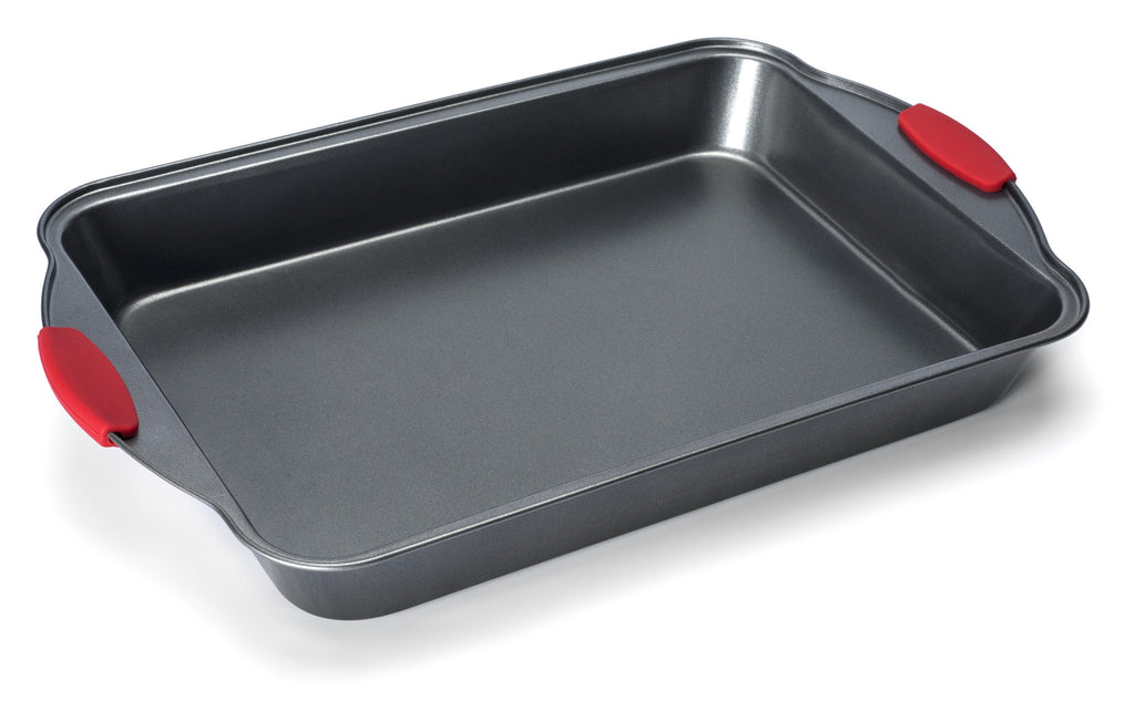 Elite Bakeware 4 Piece NonStick Baking Pan Set With Silicone Handles
