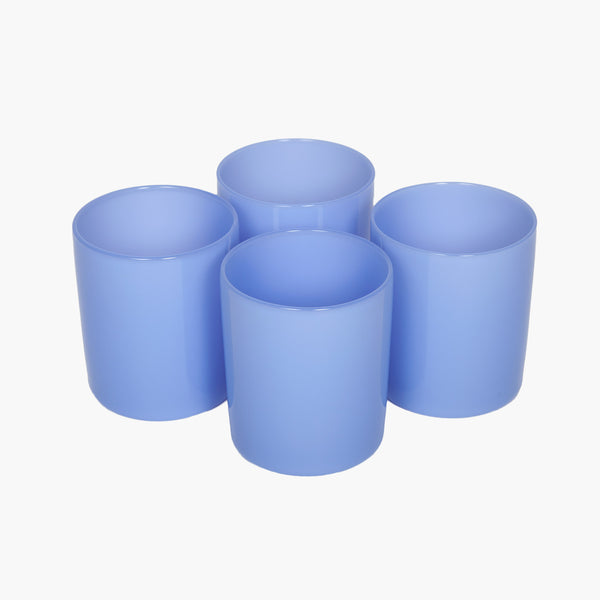 Opaque Bleuet Glass Cups - Set of 4