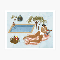 Far Off Poolside Art Print