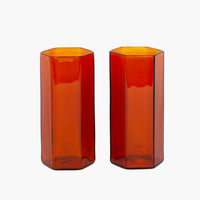 Coucou Tall Glass Set - Amber