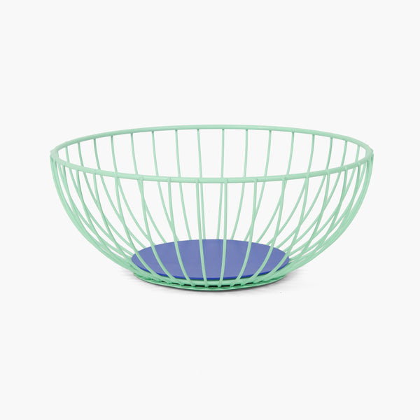 Large Iris Wire Basket - Mint/Blue