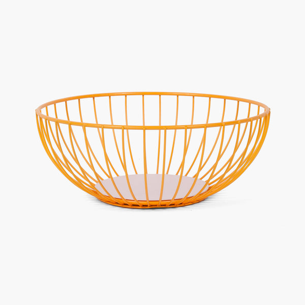 Large Iris Wire Basket - Orange/Pink